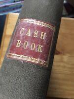 Antique Ledger 1940s  York Accounts Cash Book Hand Written Corn Merchants WW2
