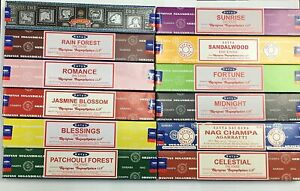 12 Variety Pack Satya Genuine Sets Mixed Scents Sticks in 1 Box