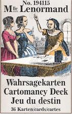 MILE LENORMAND #1941 DIVINATION CARDS - 3 LANGUAGES #121