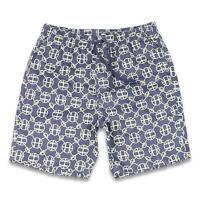 HUF Paisley Warm Up Shorts Navy Blazer