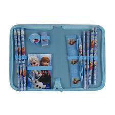 New 13pc Blue Disney Frozen Anna Elsa Pencils Pen Stationery Set School Supplies