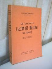 D. Christesco : La fortune de Alexandre MANZONI en France théâtre romantique