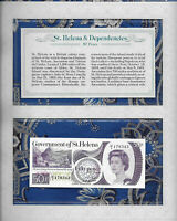 *Most Treasured Banknotes St. Helena 1979 50 Pence UNC P 5 prefix V/1