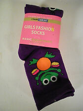 3 pairs GIRLS FASHION Socks  size 6-8 SHOE SIZE 7.5- 13