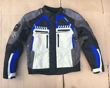 NITRO N31 MENS TEXTILE MOTORCYCLE SPORT TOURING JACKET BLACK/BLUE/SAND, SIZE L