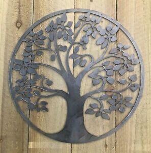 Tree Of Life Metal Sign Wall Art CNC Sign Shed Decor Metal Plague