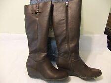SOFFT Eurosoft Addie Brown Fashion Knee High Wedge Boot Sze 10 EU 42 NIB $120