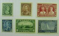 1935 Canada  SC #211-16  KING GEORGE V   MNH  stamp set