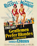 Vintage 1953 GENTLEMEN PREFER BLONDES Movie Poster JANE RUSSELL * MARILYN MONROE