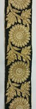 Indian Pakistani Flower and Leaf  LCT and Pearl Stones Lace Border sold by meter
