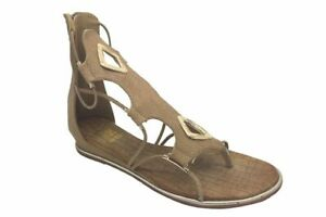 Ladies Shoe No Shoes Diamond Zip up Gladiator Thong Sandals Size 6-10 NEW