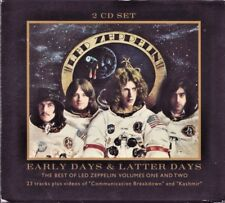 Led Zeppelin Early Days Latter Days Vol 1+2 Hits 2 CD Set +ECD Videos Slip Case