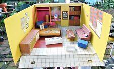Vintage Mattel 1962 Barbie Dream House Filled W Furniture Plus Extras # 816