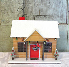 Red White Metal Country 2017 Target Wondershop House Log Cabin Christmas Decor