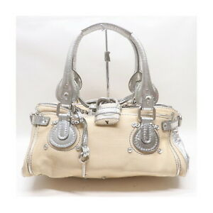 Chloe Hand Bag Paddington Beiges Straw 1417017