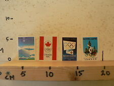 STICKER,DECAL OLYMPIC GAMES ,LOT OF 4 DECALS,CANADA 76,MUNCHEN 72,LONDON 48,MELB