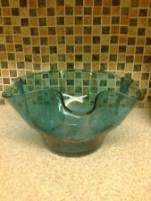 Centro tavolo in vetro blu Ciotola Arruffato Design