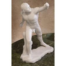 Roman Gladiator Nude Le Gladiateur Borghese Bonded Marble Replica Sculpture
