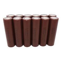 12X Battery 18650 3000mAh High Drain 3.7V Li-ion  INR HG2 Rechargeable for Vape