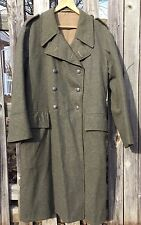 Vintage 1941's Wwii Swedish Army Double Breast Wool Trench Cost Overcoat.