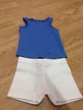 Next Baby Girls Size 3-6 Months Blue Sleeveless Vest Top & White Shorts - New