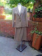 Vintage Evan Picone Wool Houndstooth Plaid Two Piece Skirt Suit