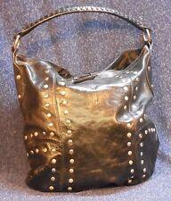 Sabina NWOT Black Leather Studded Tote