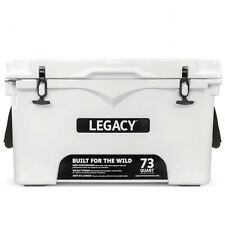 HEAVY DUTY COOLER - WHITE - ROTO-MOLDED, INSULATED, PORTABLE ICE CHEST - CAMPING