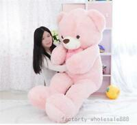 63'' Giant Pink Teddy Bear Plush Toy Soft Doll Cushion Valentine Birthday Gift