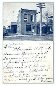 NEW LONDON, IA  ~ Street Scene TELEPHONE CO. OFFICE 1907 Henry County Postcard