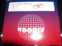 Narcotic Thrust ‎– I Like It CD Single – Like New