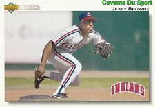 340 JERRY BROWNE CLEVELAND INDIANS  BASEBALL CARD UPPER DECK 1992