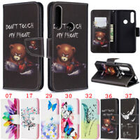 Bear Wallet Leather Flip Case Cover For Huawei Y7 2019 Y5 2019 P30 Lite P40 Lite