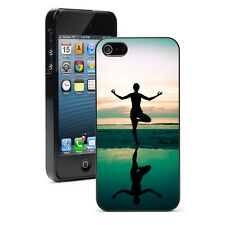 For iPhone X SE 5 5S 5c 6 6s 7 8 Plus Hard Case Cover 1467 Yoga Woman at Sunset