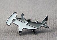 Metal Enamel Pin Badge Brooch Shark Hammerhead Hammer Shark Jaws Ocean Marine