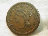 1854 U.S. Large Cent (Braided Hair) Very Fine
