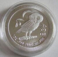 Niue 2 Dollars 2017 Eule der Minerva 1 Oz Silber