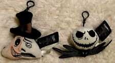 Nwt*The Nightmare Before Christmas Plush Backpack Clips/Ornaments Jack & Mayor