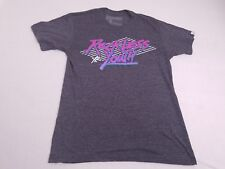 Young /& Reckless Bedrock Tee Mens Charcoal Gray Pink Logo T-Shirt New NWT