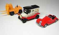 TOMY TOMICA  - MORGAN  - TYPE T FORD -  TOYOTA FORK LIFT - 3 CAR LOT - MINT NOS
