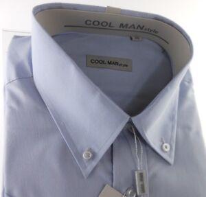 Camicia classica uomo Cool Man manica corta collo Button down Grigio art 247