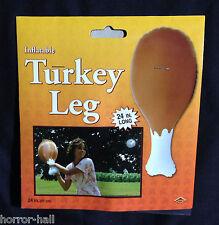 Funny--JUMBO INFLATABLE TURKEY LEG--Thanksgiving Christmas Medieval Costume Prop