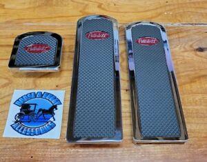 billet aluminum Peterbilt 379 389 359 foot pedals with rubber insert red logo