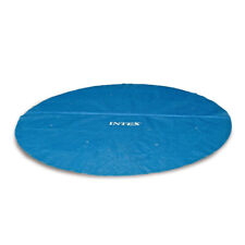 Intex 29024E 16 Foot Above Ground Swimming Pool Solar Cover with Carry Bag, Blue