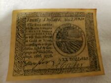 Sept. 26th, 1778 Twenty Dollars Continental Currency Note - Reproduction