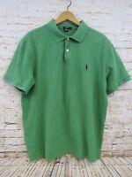 J. Crew Men's Green Short Sleeve Polo Golf Shirt Size Large 100% Cotton