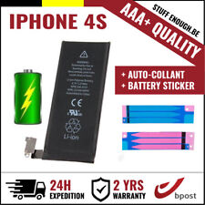 AAA+ REPLACEMENT VERVANG BATTERY/BATTERIJ/BATTERIE +STICKER STRIPS FOR IPHONE 4S