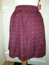 Fatface Ladies short Burgundy Skirt with pockets UK 12