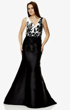 Dynasty long Black And White Evening Long dress With Beaded Top size 14 BNWT
