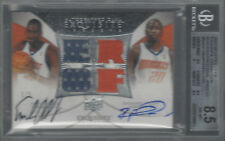 OKAFOR/FELTON 2007-08 EXQUISITE COLLECTION AUTO DUAL JERSEY 1/5 BGS 8.5/AU 9